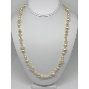 J. Crew Long Pearl Strand Necklace